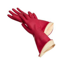 Red Rubber Gloves – Toilet Area ONLY